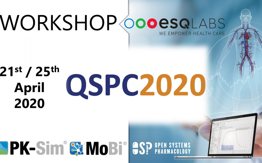 April 21 & 25, 2020: Two 1-Day OSP Suite Workshops @ QSPC Meeting 2020 (EU, Netherlands)